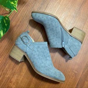 Blue grey suede shoes